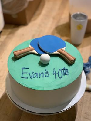 Ping Pong Fondant Cake