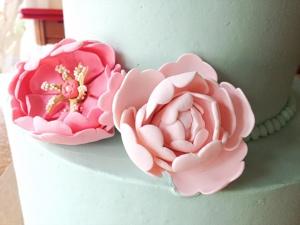 Custom Fondant Flower Cake from The Able Baker