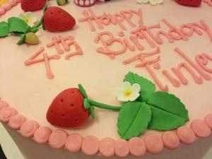 Custom Fondant Strawberry Cake from The Able Baker