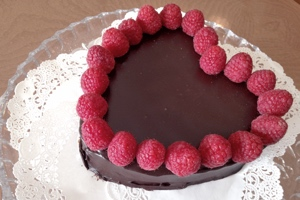 Valentines Day Chocolate Pound Cake from The Able Baker