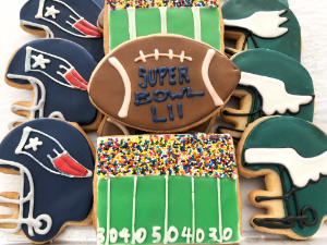Super Bowl Sugar Cookies from The Able Baker