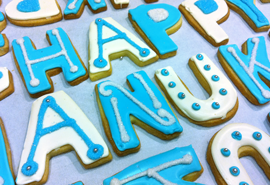 Happy Hanukkah Cookies from The Able Baker