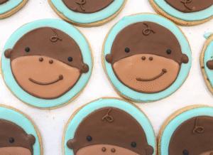 Adorable Monkey Sugar Cookies
