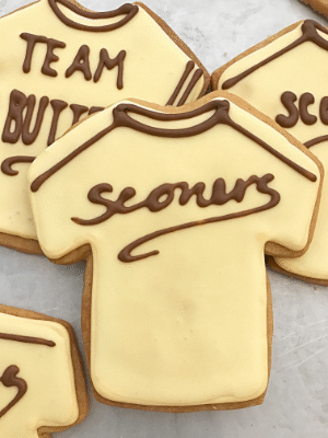 Sconers Baseball Jersey Sugar Cookies