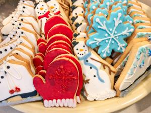 Winter Mittens Snowmen Snowflakes Sugar Cookies