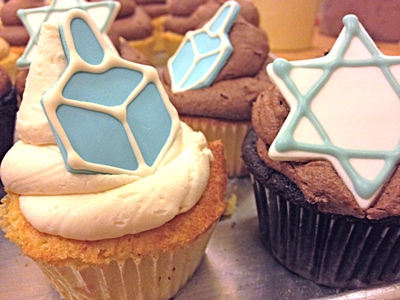 Hanukkah Cupcakes from The Able Baker
